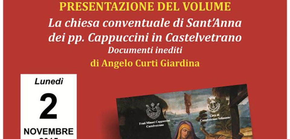 Presentazione del libro sulla Chiesa del Convento di Castevetrano