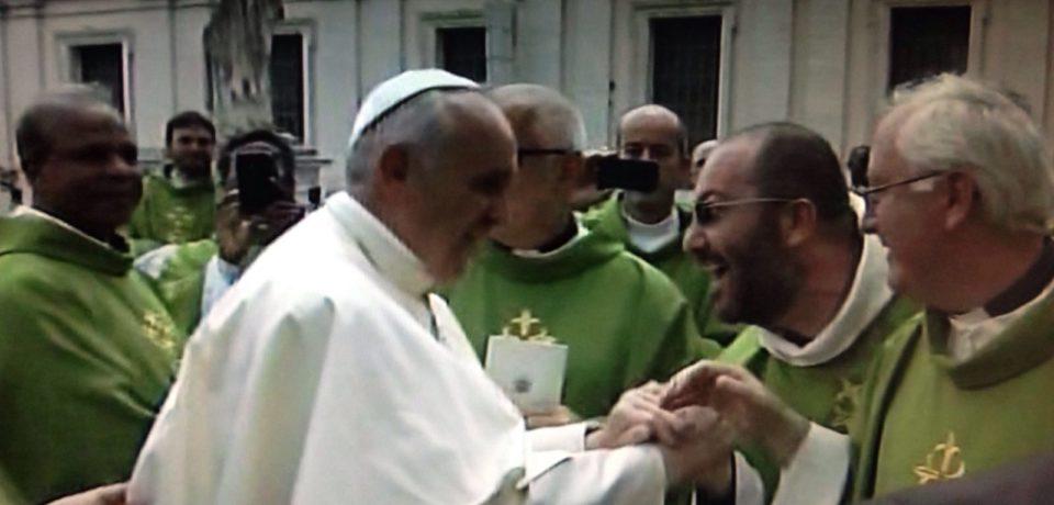 Fr. Michele con Fede e Luce al Giubileo dei disabili e ammalati mentali.