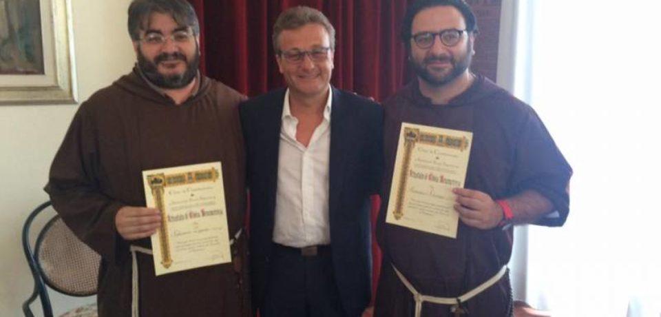 Saluto del sindaco di Castelvetrano a Fr. Salvatore e fr. Nino