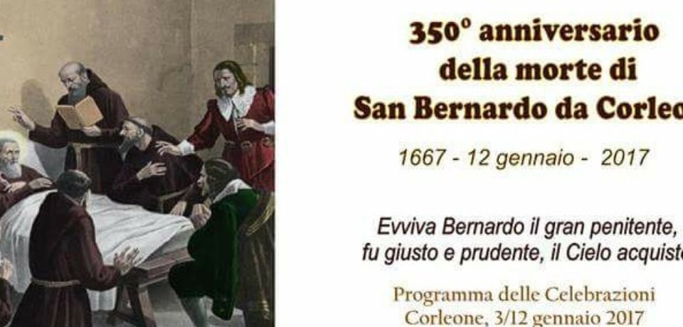 Festa di San Bernardo da Corleone nel 350° della Morte