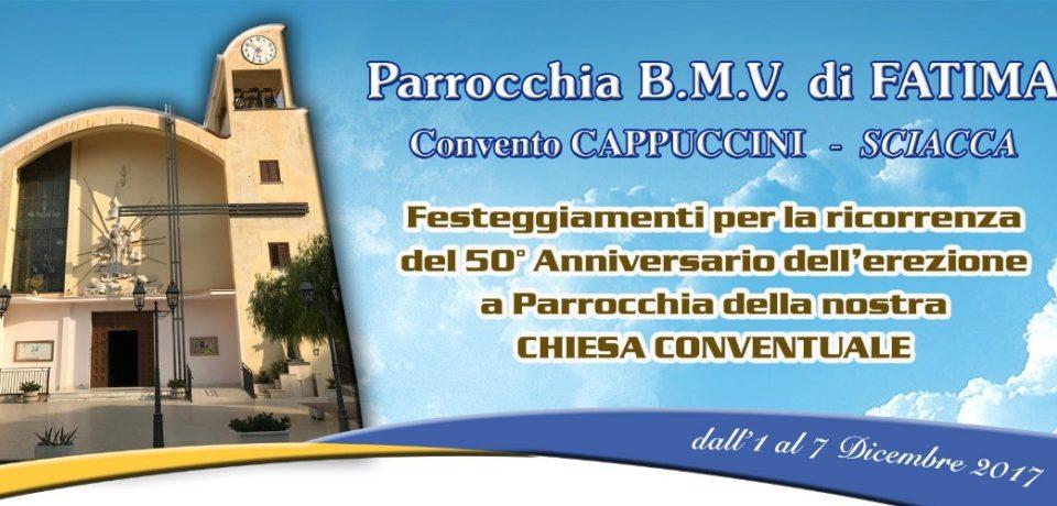 Cinquantesimo anniversario dell'erezione della Parrocchia del convento di Sciacca