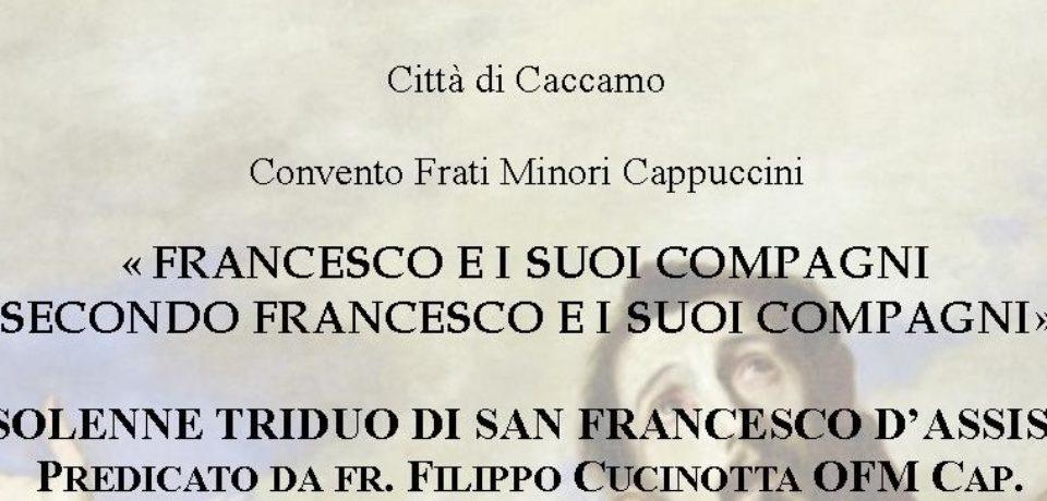 Preparazione alla solennità di San Francesco a Caccamo