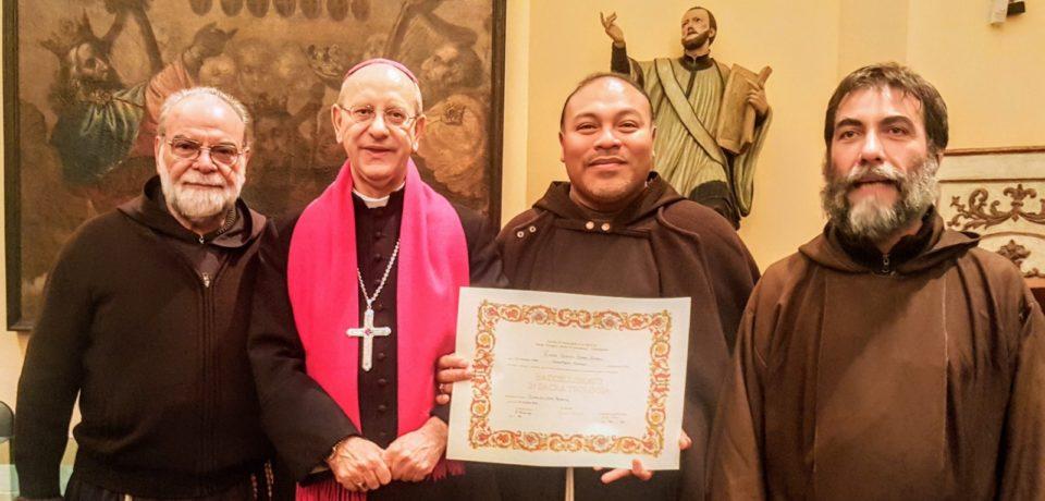 Consegna del Diploma di Baccellierato a fr. Rafael