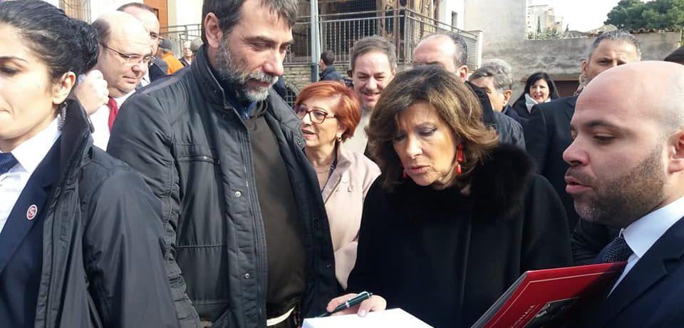 La Presidente del Senato, Maria Elisabetta Alberti Casellati, in visita a Danisinni