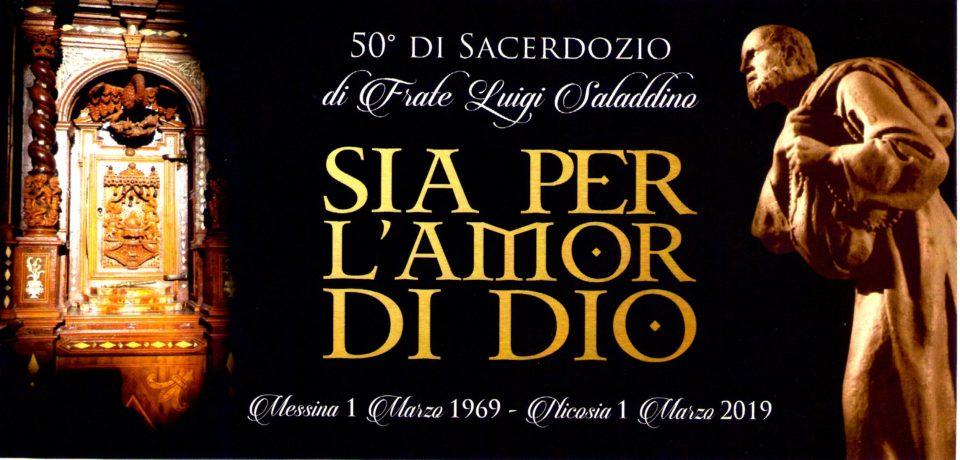 50 anni di Sacerdozio di frate Luigi Saladdino