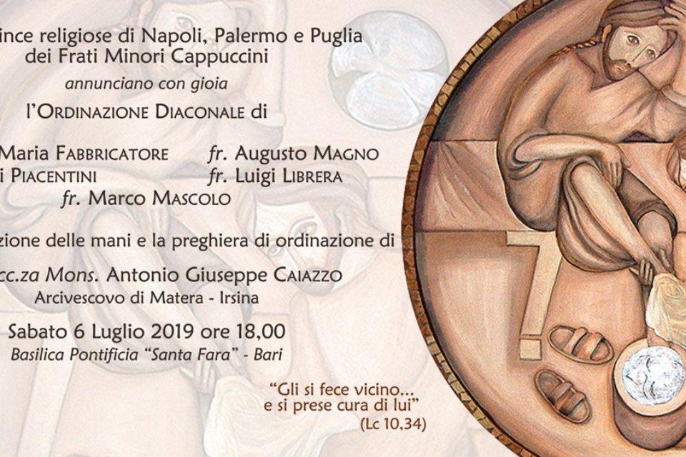 Annuncio delle Prossime ordinazioni Diaconali di Fr. Augusto e fr. Luigi