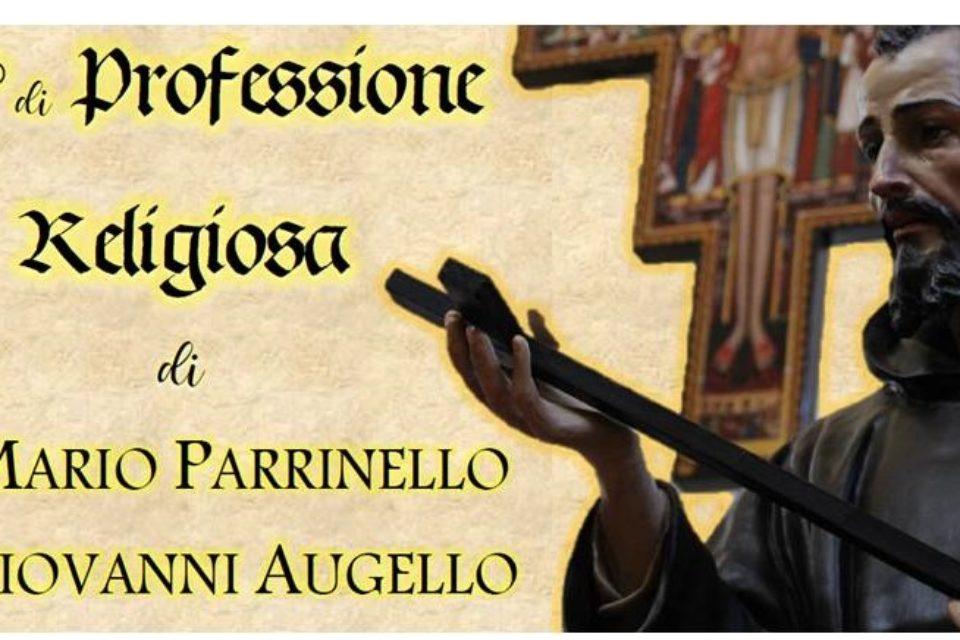 25° di Professione di fr. Giovanni e fr Mario