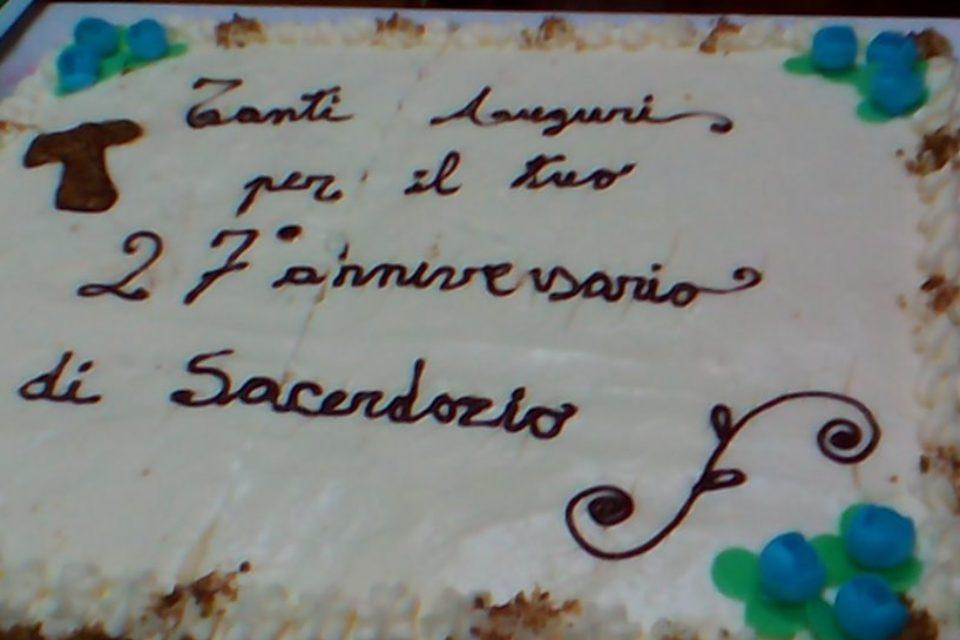 27° anniversario di ordinazione presbiterale di Fr. salvatore Zagone